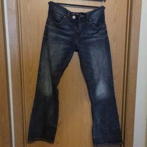 Men's silver dark wash jean. 32/32